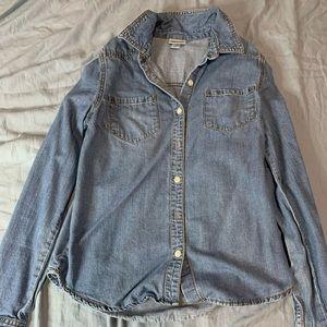 Light blue jean flannel